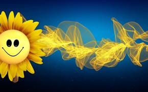 Картинка цветок, фон, завитая линия
