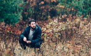 Картинка осень, поза, куртка, мужчина