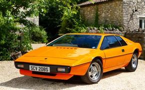 Картинка оранжевый, купе, Lotus, 1976, Esprit, Italdesign, Giugiaro