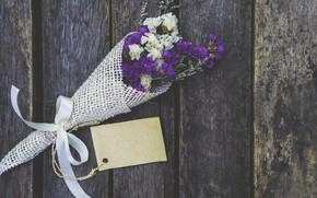 Картинка цветы, букет, wood, flowers, purple