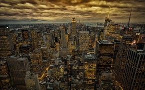 Картинка New York, NYC, in gold