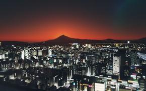 Картинка пейзаж, ночь, город, cities skylines