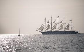 Картинка море, корабль, парусник
