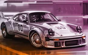 Картинка Авто, Рисунок, 911, Porsche, Машина, Art, Porsche 911, Porsche 911 Turbo S, Aleksandr Sidelnikov, by …