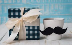 Картинка подарок, кружка, Праздник, мужской день