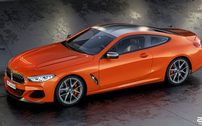 Картинка Авто, BMW, Машина, БМВ, Оранжевый, Coupe, Рендеринг, BMW 8 Series, M850i, Zoki Nanco, by Zoki …