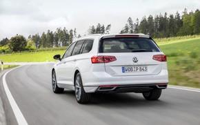 Картинка движение, Volkswagen, универсал, GTE, Passat, Variant, 2019