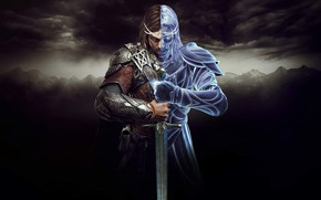 Картинка sword, ghost, weapon, man, The Lord of the Rings, blade, Талион, J. R. R. Tolkien, …