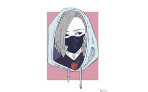 Картинка минимализм, маска, My Hero Academia, Boku No Hero Academia, Моя Геройская Академия, Kurono Hari