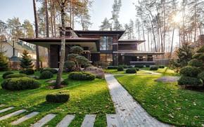 Картинка дизайн, вилла, сад, архитектура, фасад, клумбы, by 33bY Architecture, Prairie House