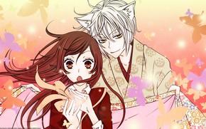 Картинка арт, двое, Kamisama Hajimemashita, Очень приятно Бог, Томое, Нанами