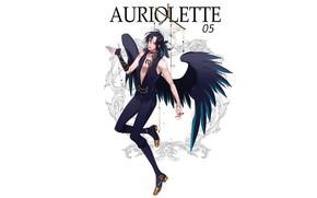 Картинка ангел, парень, чёрные крылья