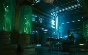 Картинка будущее, Бар, киберпанк, rpg, видеоигра, video game, night city, CD Projekt RED, Cyberpunk 2077, Cyberpunk, …