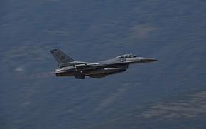 Картинка ВВС США, General Dynamics F-16 Fighting Falcon, истребитель четвёртого поколения, американский многофункциональный лёгкий