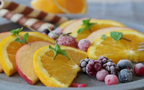 Картинка ягоды, яблоко, апельсин, фрукты, цитрусы