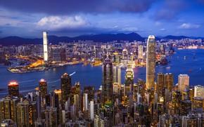 Обои Hong Kong, Сянган, skyline, Гонконг, КНР