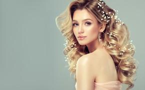 Картинка девушка, стиль, макияж, прическа, белые, цветочки, невеста, edwardderule