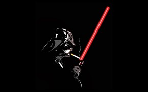 Картинка Star Wars, Darth Vader, Cigarette, Laser Sword