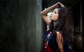 Картинка девушка, волосы, азиатка, милашка