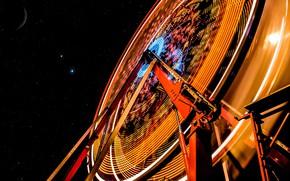 Картинка небо, звезды, колесо обозрения