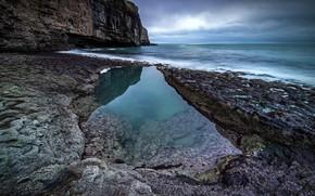Картинка море, скалы, берег