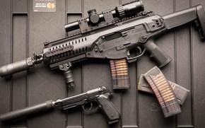 Картинка оружие, автомат, weapon, Beretta, штурмовая винтовка, M9A1, assaul rifle, ARX, Beretta 92