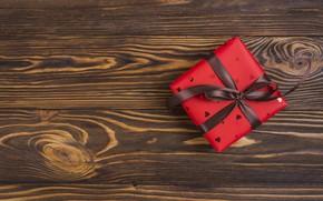 Картинка подарок, Love, лента, Wood, ribbon, Gift, Heart