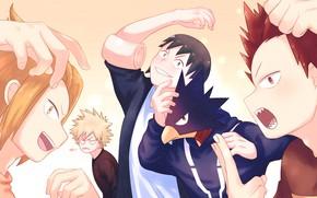 Картинка арт, парни, персонажи, My Hero Academia, Boku No Hero Academia, Моя Геройская Академия