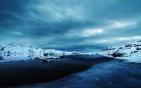 Обои снег, Норвегия, Нордланд