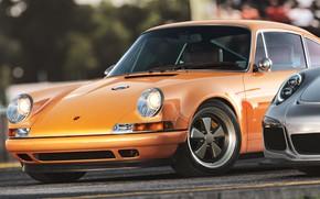 Картинка Авто, Porsche, Машина, Рендеринг, Спорткар, Heritage, Porsche 911 GT3 RS, Transport & Vehicles, Porsche 911 …
