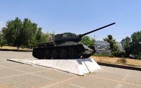 Картинка танк, экспонат, Ереван, Т-34-85