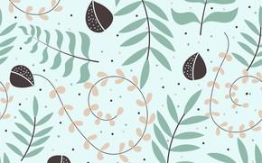 Картинка листья, фон, бесшовный