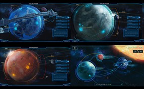 Картинка космос, планеты, звёзды, локация, смстема