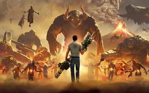 Картинка игра, монстры, парень, Serious Sam 4: Planet Badass