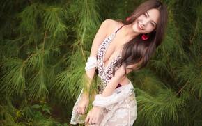 Картинка лето, девушка, лицо, улыбка, азиатка, милашка