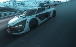 Картинка Авто, Игра, Машина, Renault, Car, Driveclub, Game Art, by JREEL *, JREEL *, Polar Expressway, …