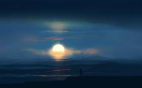 Картинка девочка, солнце, море