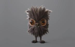 Картинка фантастика, малыш, арт, зубастик, Pablo Munoz Gomez, Pug-Particle