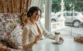 Картинка pretty, brunette, drink, elegant, Георгий Дьяков