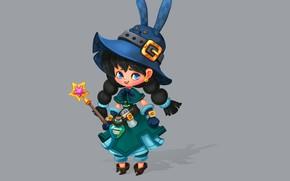 Картинка игра, арт, персонаж, волшебная палочка, ание, ведьмочка, Smirnоv School, Rikka Desunyaaa