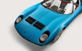 Картинка Lamborghini, Капот, Фары, Classic, Miura, 1968, Classic car, Lamborghini Miura, Lamborghini Miura Roadster