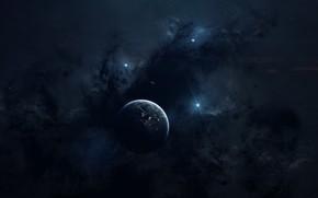 Картинка Звезды, Планета, Космос, Туманность, Звезда, Star, Арт, Stars, Space, Art, Planet, Nebula, Пространство, Stranger, Vadim …