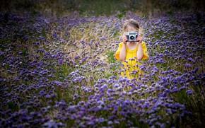 Картинка лето, камера, девочка