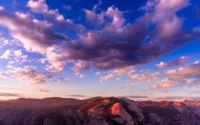 Картинка небо, облака, горы