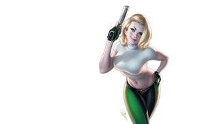 Картинка девушка, оружие, арт, Warren Louw, Danger Girl #1 Gallery Edition