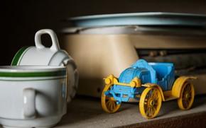 Картинка машина, игрушка, кружки