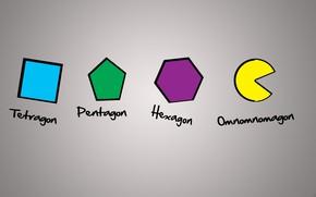 Картинка геометрия, фигуры, pacman, геометрические