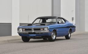 Картинка Muscle, Dodge, Car, Classic, Blue, Old, Demon, Dodge Demon GSS
