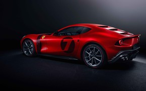 Картинка Ferrari, red, super car, Omologata, Ferrari Omologata