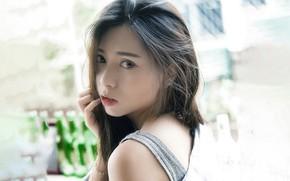 Картинка Girl, Asian, Model, Portrait, Xiao Qi